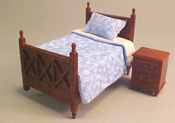 "Lee's Line 1/2"" Scale Spice Single Bed Set"