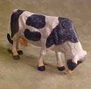 "Falcon 1/2"" Scale Black and White Cow Grazing"