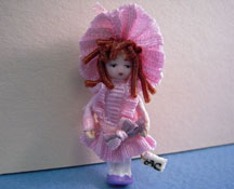 "Angel Children 1/2"" Scale Wee Courtney Porcelain Miniature Doll"