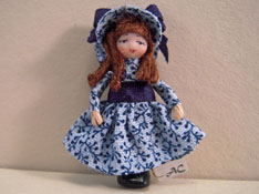"Angel Children 1/2"" Scale Wee Pioneer Miniature Doll"