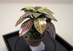 "Artistic Florals Hand Crafted 1/2"" Scale Tropical Croton Plant"