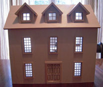 "Alessio Miniatures 1/2"" Scale Assembled Colonial Country Manor"
