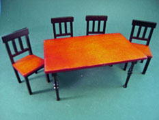 "1"" Scale Lee's Line Bren Dining Room Set"