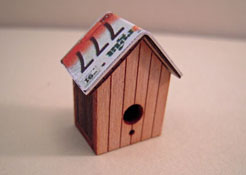 "1"" Scale Bird House with a License Plate Roof"