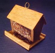 "All Through The House 1/2"" Scale Hand Crafted Miniature Bird Feeder"