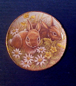 """ESTATE SALE By Barb 1"""" Scale Bunny Plate"""
