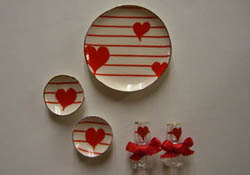 "By Barb 1"" Scale Decorative Valentines Set"