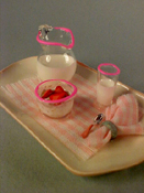 "1"" Scale Strawberry Breakfast Tray"