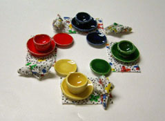"""1/2"""" Scale By Barb Fiesta Dinner Set"""