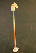 "Silvia Leiner 1"" Scale Miniature Wooden Toy Hobby Horse"