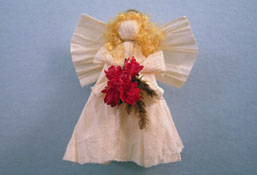 """All Through The House 1"""" Scale Hand Crafted Tree Top Angel"""