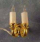 "Cir-Kit 1/2"" Scale Double Candle Wall Sconce"
