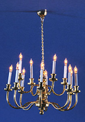 "1"" Scale Cir-Kit Twelve Arm Grand Chandelier"