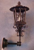 "1"" Scale Anitque Black Coach Lamp"