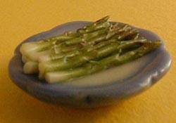 """1"""" Scale Asparagus On A Plate"""