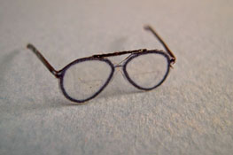 "Alice Zinn 1"" Scale Hand Crafted Aviator Eye Glasses"