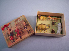 "Silvia Leiner 1"" Scale Miniature Boxed Wild Animal Toy Set"