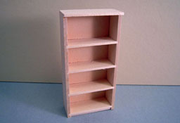 "M & M Specialties 1/2"" Scale Miniature Unfinished Bookshelf"