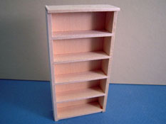 "M & M Specialties 1/2"" Scale Miniature Unfinished Bookcase"