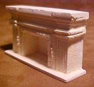 "Unique Miniatures 1/2"" Scale Miniature Columned Fireplace"