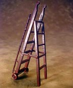 "Bespaq 1/2"" Scale Miniature Mahogany Gallery Library Ladder"