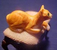 "1/2"" Scale Miniature Orange Tabby Cat"
