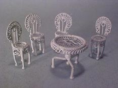"Townsquare 1/2"" Scale Five Piece Fancy Patio Set"