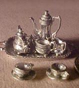 "Warwick 1/2"" Scale Pewter Tea Set"