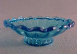 "1"" Scale Blue Flared Glass Bowl"
