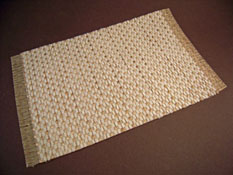 "Serendipity 1"" Scale Hand Made Woven Natural Cream and White Carpet"