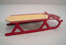 "1/2"" Scale Miniature Metal Snow Sled"