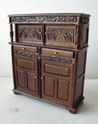 "1"" Scale JBM Henry VIII Walnut Court Cabinet"