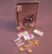 "1"" Scale Bright deLights Miniature Safe Set"