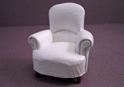 JBM Faux Leather Padded Tub Armchair 1:24