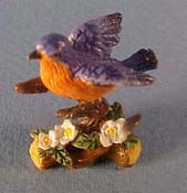 "J Kendall 1"" Scale Blue Bird Statue"