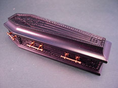 "1"" Scale Jeannetta Kendall Black Wooden Coffin"