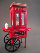 "1"" Scale Jeannetta Kendall Olde Time Filled Popcorn Machine"