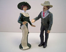 "Just Plain Folk 1/2"" Scale Poly-Resin Lady and Gent"