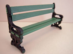 "Just Plain Folk 1/2"" Scale Poly Resin Garden Bench"