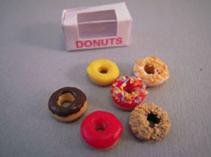 "1"" Scale Bright deLights Assorted Donuts With A Box"