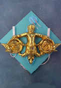 "1"" Scale Brass Angel Double Wall Sconce"