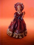 """Jeannetta Kendall 1"""" Scale Lady In Rose Statue"""