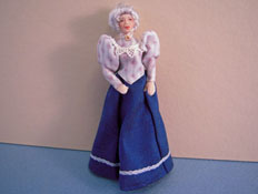 "Loretta Kasza Hand Crafted 1/2"" Scale Grandma Maria In Blue"