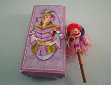 "Loretta Kasza 1"" Scale Miniature Boxed Jester Marrotte"