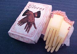 "Loretta Kasza 1"" Scale Miniature Hand Crafted Box Of Gloves Display"