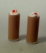 "1"" Scale Chocolate Milk Shakes For Two"