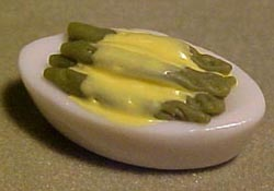 "MCM Enterprises 1/2"" Scale Asparagus with Hollandaise"
