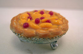"1"" Scale Hand Crafted Peach Raspberry Pie"