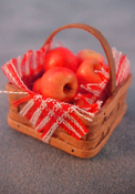 "1"" Scale Square Basket Of Apples"