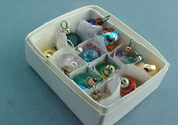 """Miniature Displays 1"""" Scale Box Of Ornaments"""